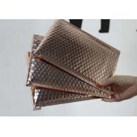 Buy cheap Rose Gold Metallic Bubble Mailing Envelopes 6 * 10 Anti - Tremble Gloss For Packaging from wholesalers