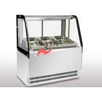 Curved Food Display Showcase Cold Or Hot 2 -5 Pot Commercial Bain Marie Suit For GN 1 /1 Pan
