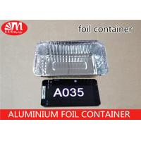 Buy cheap A035 Foil Food Storage Containers , Aluminum Take Away Containers Grill Pan from wholesalers