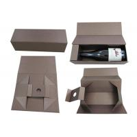 Buy cheap Recyclable Birthday Single Bottle Wine Box 9.75 X 6.25 X 2.5 Inches from wholesalers