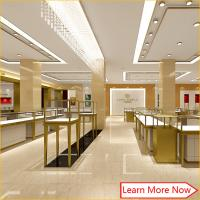 Buy cheap Fashion design jewelry shop,jewlery store design,jewelry display glass tower case from wholesalers