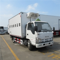 Buy cheap Isuzu 100p 98hp 3ton cold room van -15 degree refrigeration unit frozen food transport refrigerated truck from wholesalers
