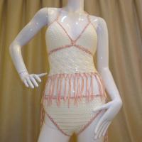Buy cheap A9248 fashion bandage bikini suits yarn crochet beach wear for girls/ladies from wholesalers