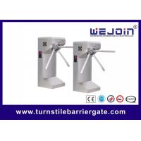 Buy cheap Drop arm Semi-automatic stainless steel Tripod Turnstiles with Controller and Fingerprint, RFID Reader from wholesalers
