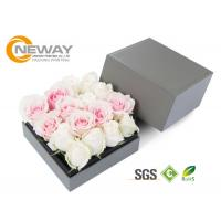 Buy cheap Craft glossy Cardboard Square Floral Packaging Boxes For Gift Rose from wholesalers
