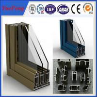 Buy cheap bronze anodized aluminum windows, brown powder coated aluminum windows from wholesalers