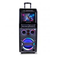 Buy cheap Small Portable Bluetooth Trolley Speaker With Disco Light / Led Display from wholesalers