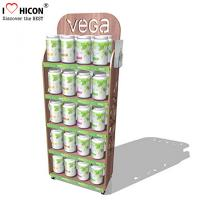 Buy cheap Point of Purchase Wooden Display Racks Free Standing For Nutritional Shake Chocolate from wholesalers