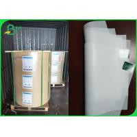 Buy cheap 35gsm Machine Glazed White Butcher Wrapping Paper FDA Large Rolls from wholesalers