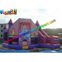 Buy cheap Disney Princess Inflatable Bouncer Castle Slide Yellow Waterproof from wholesalers