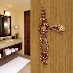 Buy cheap Brass Decorative Brass Door Handles (U523-121L-AG) product