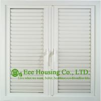 Buy cheap UPVC Shutter casement window For Residential Home,White Color Profile Vinyl Louvers Window from wholesalers