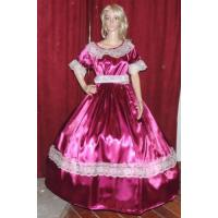 Buy cheap Civil War Dress Wholesale XXS to XXXL CIVIL WAR REENACTMENT VICTORIAN DICKENS SASS Burgandy Satin Costume Dress Gown from wholesalers