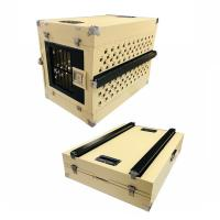 Buy cheap Portable Aluminum Collapsible Single Dog Crate Box Folding Pet Carrier from wholesalers