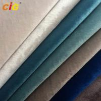 Buy cheap Anti - Static Heat Insulation Super Soft Italy Velvet  Sofa Upholstery Fabric With T/C Backing from wholesalers