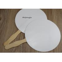 Buy cheap Creative White hard paper Japanese wood Hand Fan Folk Art Style With Erasable Surface product