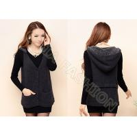 Buy cheap Womens Cardigan Sweaters With Hood And Pockets Button Up Sleeveless Vest from wholesalers
