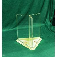Buy cheap Free Standing Acrylic Menu Holder A4 Size 3 Sided Display Stand product