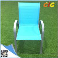 Buy cheap Low price stackable sling chair popular colorful reclining beach garden chair,comfortable indoor outdoor leisure lounger from Wholesalers