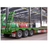 Buy cheap Low Bed Trailer 50 Tons loading 3 axles drop deck for vessels transport with warranty from wholesalers