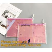 Buy cheap Holographic Factory Manufacture Custom Logo Transparent PVC Cosmetic Bag Women Travel Clear Wash Organizer Pouch bagease from wholesalers