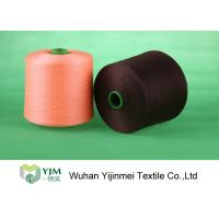 Quality High Tenacity Plastic Cone Bright / Bright Polyester Yarn TFO / Ring Spun Yarn for sale
