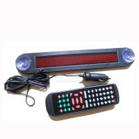 Buy cheap 12V LED Message Digital Moving Scrolling Car Sign Light Red color 30*5*1cm Remote control from wholesalers