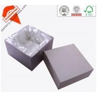 Buy cheap handmade top and bottom silk lined cosmetic paper packaging box from wholesalers