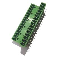 Buy cheap 3.81 Pluggable Terminal Block , Male 3 * 16P Straight Right Angle Terminal Connector from wholesalers