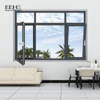 Buy cheap Swing Dark Brown Aluminium Windows / Hotel Aluminium Casement Windows from wholesalers
