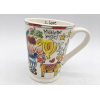 Buy cheap Decal Finishing Ceramic Houseware Hand Painted Ceramic Mugs 10oz 12oz 14oz 16oz from wholesalers