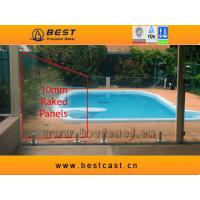 Buy cheap 10mm Raked glass pool panels from wholesalers