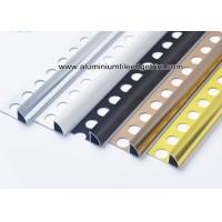 Buy cheap 6mm / 8mm / 10mm / 12mm Quarter Round Aluminium Tile Edge Trim  For Tile Walls from wholesalers