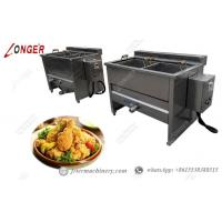 Buy cheap 100kg/h Semi  Automatic Deep Fryer with Basket Commercial for Sale from wholesalers