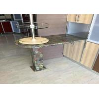 Buy cheap Residencial Green Granite Countertops Kitchen Sink Countertop Top / Edges Polished from wholesalers