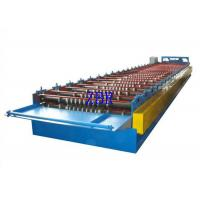 Buy cheap Steel Roof Panel Roll Forming Machine , Metal Roof Panel Machine Solid Shaft product