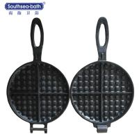 Buy cheap Global Hot Sale Professional Pre-seasoned Cast Iron Waffle grill Pan from wholesalers