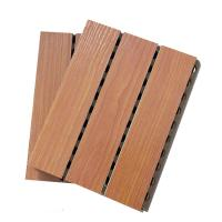 Buy cheap MDF Studio Auditorium Wooden Grooved Acoustic Panel / Sound Absorbing Wall Panels from wholesalers