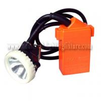 Buy cheap KJ4.5LM 1w IP67 LED Mining Cap Lamp 4500Lux 220V AC , Ni-MH Rechargeable Battery from wholesalers