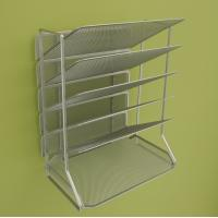 Buy cheap Office Mesh Magazine Display Racks Desk Organizer With 6 Tray from wholesalers