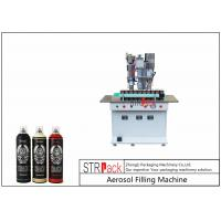 Buy cheap Semi Automatic Aerosol Spray Paint Filling Machine For Air Freshener / Refrigerant from wholesalers