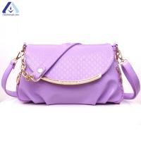 Buy cheap Wholesale Oily PU Leather Messenger Bag Trendy Cross Body Women Strap Messenger Bag BHB998 from wholesalers