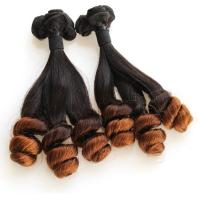 China Grade 7A Virgin Hair Weft Loose Wave Ombre Color Brazilian Hair With Factory Price on sale