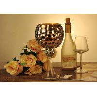 Buy cheap Antique Mosaic Glass Candle Holder Electroplating Christmas Decoration from wholesalers