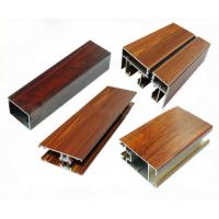 Low Pollution Aluminum Window Frame Profile Wood Finish For Decoration