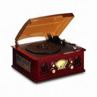 Buy cheap Nostalgic Wooden Music Center with Turning AM/FM Stereo Receiver and Automatic Stop Phonograph from wholesalers