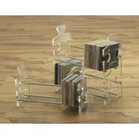 Buy cheap cross shape acrylic CD display rack with 5 compartments from wholesalers