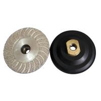 Buy cheap 4 Inch 100mm Diamond Cup Wheel Vacuum Brazed Wet / Dry  Polishing For Hard Stone from wholesalers