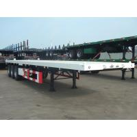 Heavy Duty 40 Foot FlatBed Container Semi Trailer With 3 Axles Customized Color