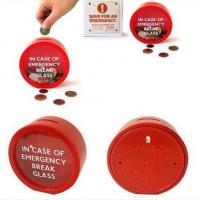 Buy cheap 2014 new design round emergency piggy bank from wholesalers